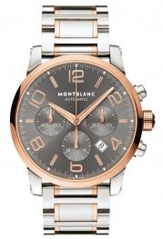 Replica MontBlanc Timewalker Two Tone Rose Gold Steel Chronograph 107321