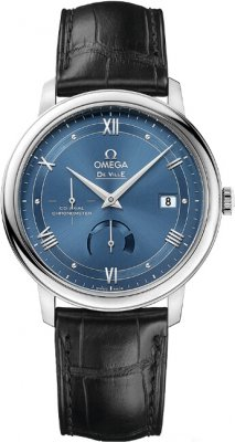 Replica Omega De Ville Prestige Power Reserve 39.5mm Blue Dial 424.13.40.21.03.002