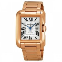 Cartier Tank Anglaise Silver Dial Rose Gold Ladies Replica Watch W5310003