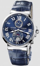 Replica Ulysse Nardin Marine Chronometer 43mm Blue Dial 263-67/43