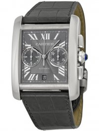Replica Cartier Tank MC Grey Dial Men's Watch W5330008