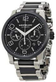Replica MontBlanc Timewalker Steel and Black Ceramic Chronograph 103094