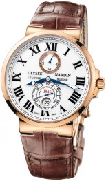 Replica Ulysse Nardin Marine Chronometer Rose Gold White Dial 266-67/40