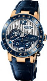 Replica Ulysse Nardin El Toro Rose Gold Blue Leather 326-00