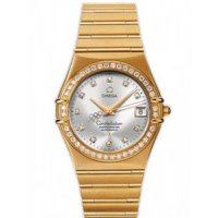 Omega Olympic Collection Automatic Co-Axial Chronometer Silver Dial Yellow Gold 111.55.36.10.52.001