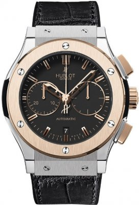 Replica Hublot Classic Fusion Chronograph Two Tone Black Dial 521.NO.1180.LR