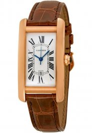 Replica Cartier Tank Americaine Medium Pink Gold Watch W2620030