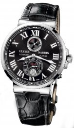 Replica Ulysse Nardin Marine Chronometer 43mm Black Dial 263-67/42
