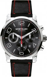 Replica MontBlanc Timewalker Automatic Chronograph Black Dial 109345