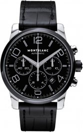 Replica MontBlanc Timewalker Steel & Ceramic Black Dial Chronograph 102365