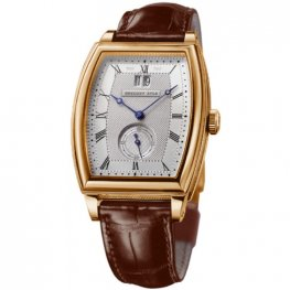 Breguet Heritage Silver Dial Rose Gold Brown Replica Watch