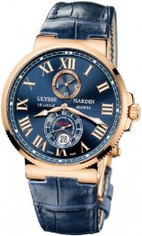 Replica Ulysse Nardin Marine Chronometer Rose Gold Blue Dial 266-67/43