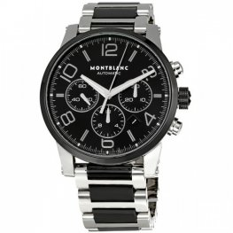 Montblanc Timewalker Steel and Black Ceramic Chronograph Replica Watch 103094
