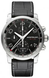 Replica MontBlanc Timewalker Chronovoyager UTC Black Dial Chronograph 107336