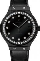 Replica Hublot Classic Fusion Shiny Black Dial Diamonds 565.CX.1210.VR.1204