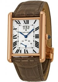 Replica Cartier Tank Louis Rose Gold Men's Watch W1560003