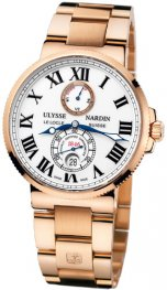 Replica Ulysse Nardin Marine 43mm Rose Gold White Dial 266-67-8M/40