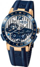 Replica Ulysse Nardin El Toro Rose Gold Blue Rubber 326-00-3