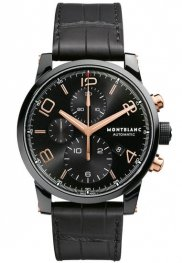 Replica MontBlanc Timewalker Black Steel Chronograph 105805