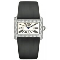 Cartier Tank Divan White Gold Diamond Mini Ladies Replica Watch WA301271