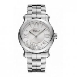 Chopard Happy Sport Automatic Silver Diamond Date Dial Ladies Replica Watch 278559-3002