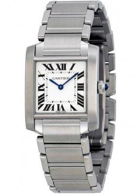 Replica Cartier Tank Francaise Medium Stainless Steel Ladies Watch WSTA0005