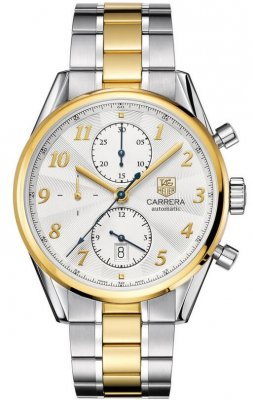 Replica TAG Heuer Carrera Heritage Calibre 16 Chronograph Gold and Steel CAS2150.BD0731