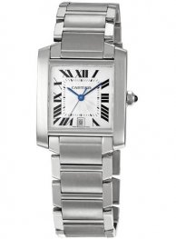 Replica Cartier Tank Francaise Large Steel Men's Watch W51002Q3