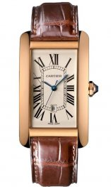 Replica Cartier Tank Americaine Rose Gold Ladies Watch W2609156