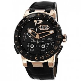 Ulysse Nardin El Toro GMT Black Dial 18kt Rose Gold Black Replica Watch 326-03