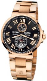 Replica Ulysse Nardin Marine 43mm Rose Gold Black Dial 266-67-8M/42
