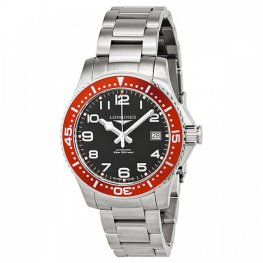 Longines HydroConquest Black Dial Red Bezel Replica Watch