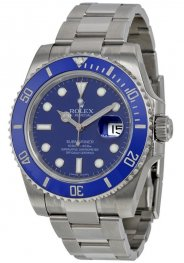 Replica Rolex Submariner Blue Index Dial White Gold 116619BLSO