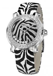 Chopard Happy Sport Zebra Special Edition In Steel With White Gold Diamond Bezel 278475-2003 Replica