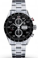 Replica TAG Heuer Carrera Calibre 16 Steel Chronograph Black Dial CV2A1R.BA0799