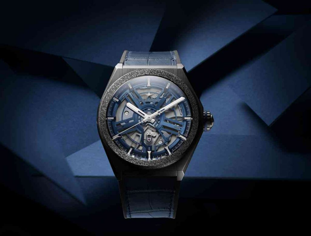 Zenith Defy Inventor Titanium Blue Openworked Dial Replica Watches