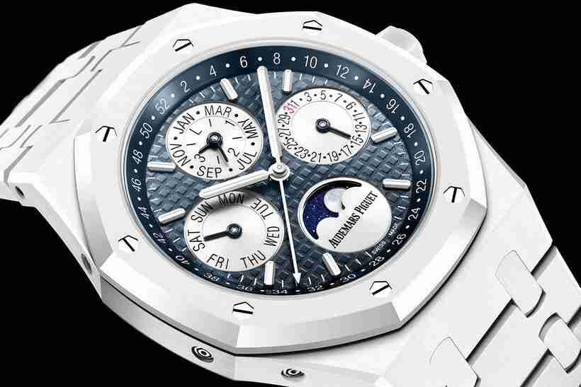 Replica Audemars Piguet Royal Oak Perpetual Calendar White Ceramic Watch