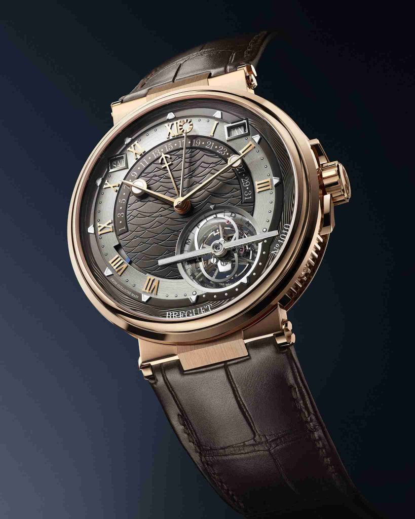 New Released of Replica Breguet Marine Tourbillon Équation Marchante 18k Rose Gold 5887 Watch