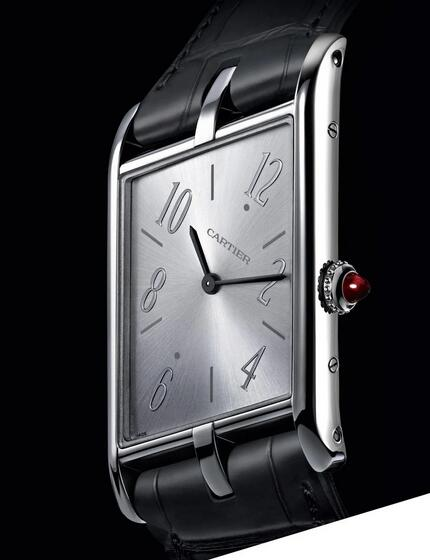 New Launched of Replica Cartier Tank Asymétrique Gray Dial Pink Gold 47mm Watches Review