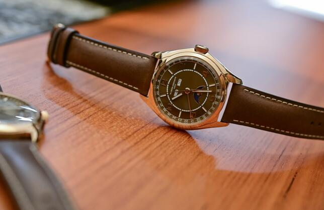Replica Vacheron Constantin Fiftysix Sepia Brown Complete Calendar Watch Review 1
