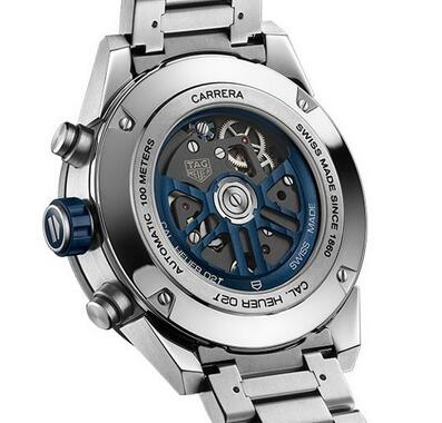 Limited Edition Replica TAG Heuer Carrera Heuer 02T Chronograph Blue Titanium Watch Review 2