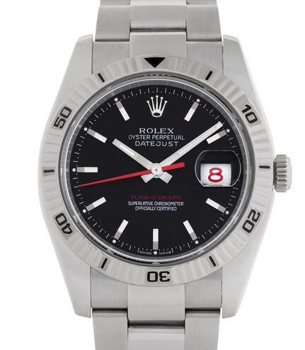 Replica Rolex Datejust Turn-O-Graph Black Dial 116264 Watches Review 2