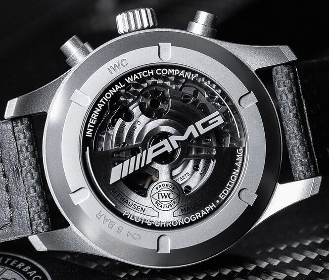 Limited Edition Replica IWC Pilot's Watch Chronograph AMG Titanium 43mm Review 2