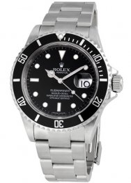 Replica Rolex Submariner Black Index Dial Stainless Steel 16610