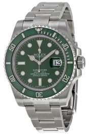 Replica Rolex Submariner Green Dial Steel 116610LV