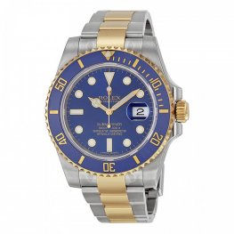 Rolex Submariner Blue Index Dial Oyster Bracelet Replica Watch 116613BLSO