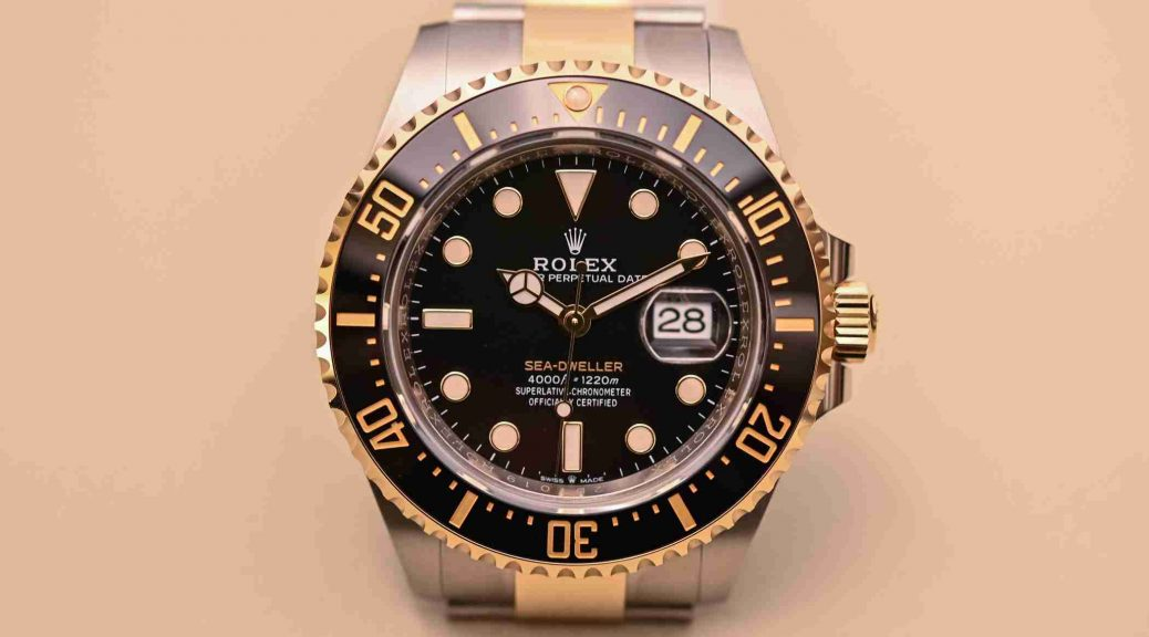 Replica Rolex Sea-Dweller Two-Tone Oyster Perpetual Rolesor 126603 Watches