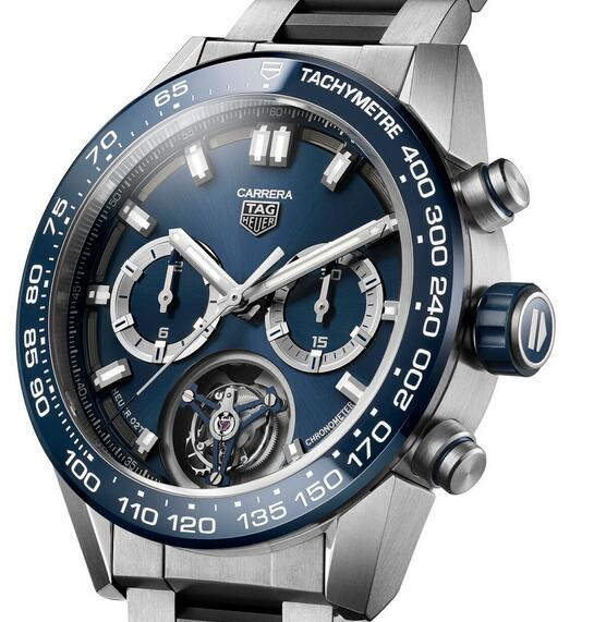 Limited Edition Replica TAG Heuer Carrera Heuer 02T Chronograph Blue Titanium Watch Review 1