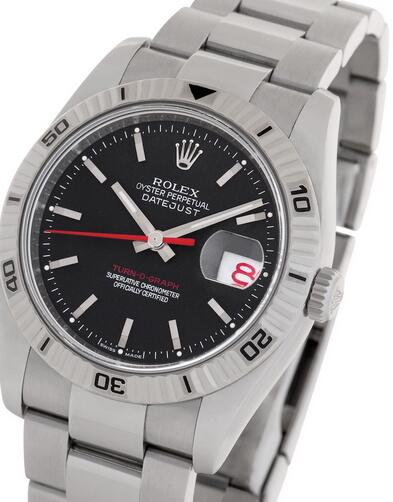 Replica Rolex Datejust Turn-O-Graph Black Dial 116264 Watches Review 1
