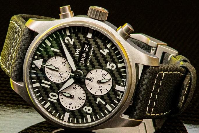 Limited Edition Replica IWC Pilot's Watch Chronograph AMG Titanium 43mm Review 1